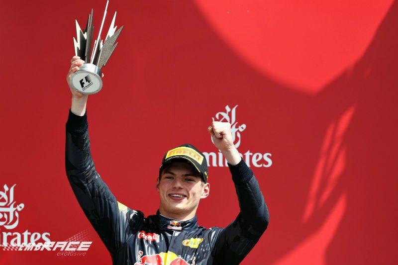 Max Verstappen Silverstone podium