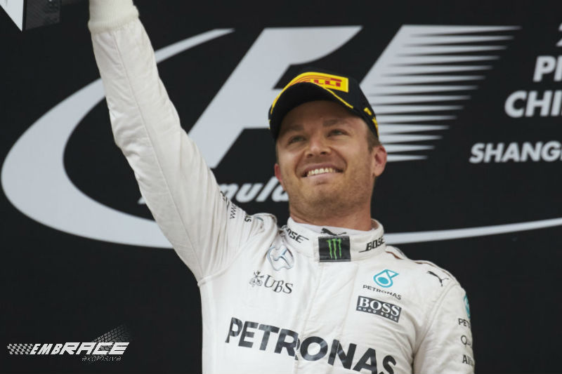 Nico Rosberg China Podium