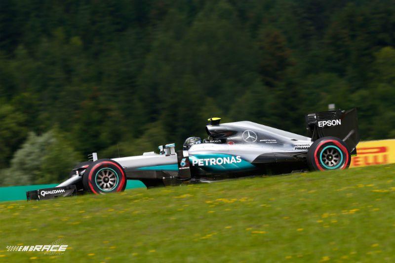 Rosberg training Oostenrijk