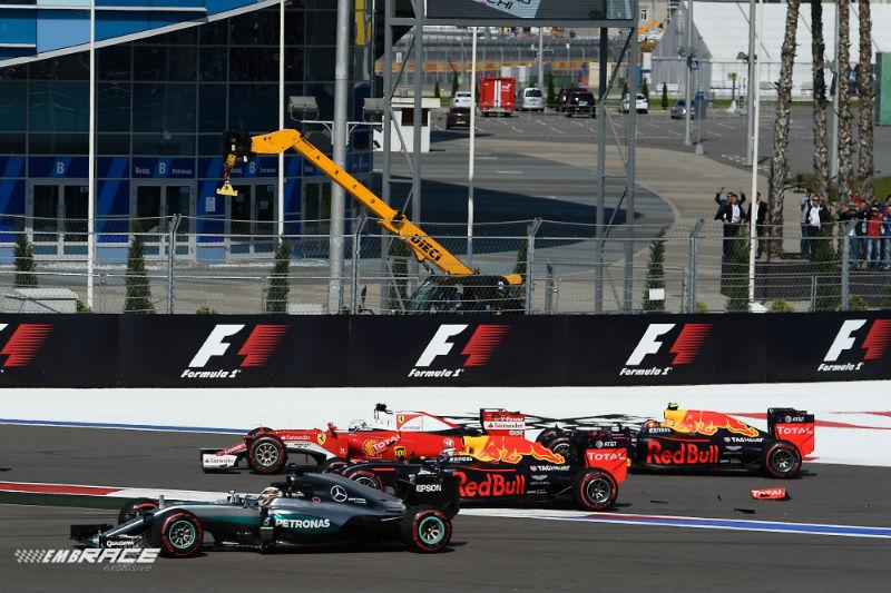 Vettel Kvyat Hamilton Ricciardo