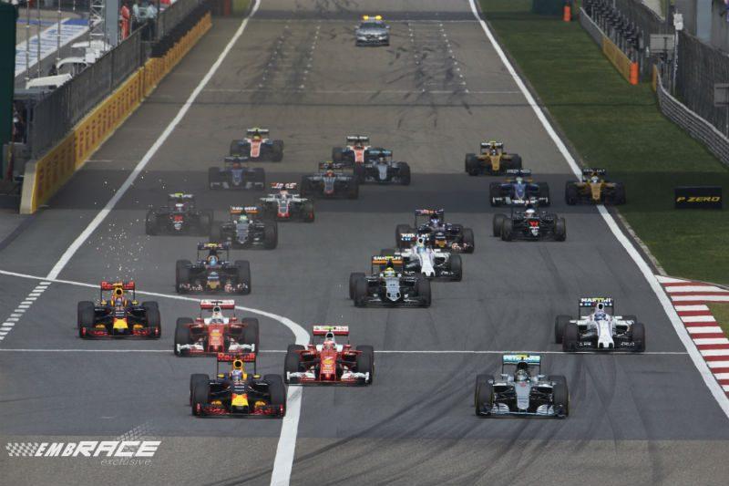Formule 1 - start Chinese GP