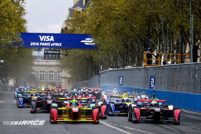 Lucas di Grassi start Paris ePrix